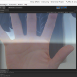 Unity画面にウェブカメラの画像を半透明で重ねて表示